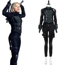 Infinity War Black Widow costume front view.