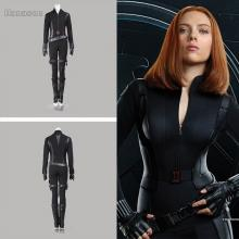 Winter Soldier Black Widow costume front and back view.