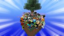 What happens when you spawn 100 players on the same skyblock? Pure madness