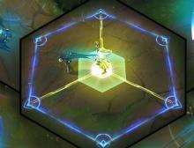 Camille locks her targets down in a hexagonal prison that they are unable to go beyond