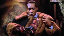 Candyman has a hook for a hand. Isn't that just swell.