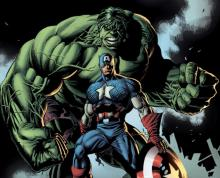 Hulk towers over Captain America, but The First Avenger often takes on foes much bigger than himself