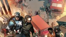 Captain America in comic book