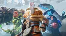Juggernaut, Storm Spirit, and Windranger preparing to defend the ancient.