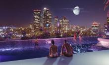 Could you imagine staring at the stars from a rooftop swimming pool?