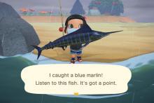 Blue marlin is a good catch!