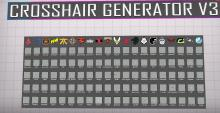 A great map to not only look at a pro's crosshair, but also create your own!