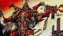 Khorne was the favorite son of the Emperor. He discovered the powers of Chaos and upended the galaxy in an attempt to overthrow the Emperor.
