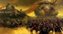 The forces of Nurgle push forward, through all terrain, spreading death and destruction