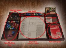 If you choose to forgo a binder, you can get one of these nerd lunch trays to keep up with all things DnD.
