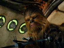 Chewie as he appears in The Force Awakens