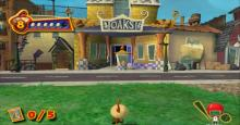 Play as Chicken Little and his friends as they attempt to return a baby alien to it's parents to stop an invasion.