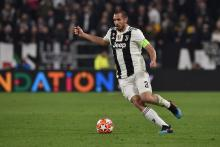 Giorgio Chiellini plays defense for Juventus