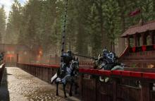 Jousting is a possibility for those who want to be the greatest knights.