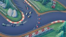 Gamers can race around 2D tracks
