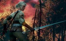 A fiery sky to match Ciri's fiery soul