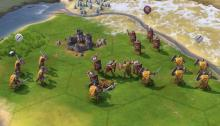 Roman legions facing down the barbarian horde