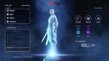 From the recent Star Wars films, Rey is playable character to help you win.
