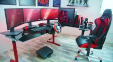 One of the cleanest setups out there. Racing gamers would love this setup.