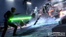 Luke pulls Imperial snow troopers.