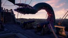 Fight against The Kraken with multiple crews participating in the fight.