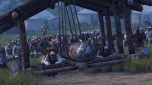 Build your own siege engines to tip the scales in attacks on enemy strongholds.
