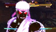 Ryu unleashing a special move towards the end of the fight.