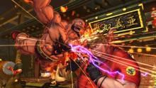 Zangief locked in close combat with a fellow Street Fighter character.