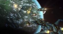 Starships in orbit
