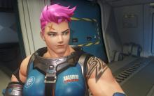 Zarya's look is actually based on a Blizzard employee