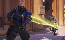 Mercy and Soldier make a good team since Soldier can heal himself and Mercy.