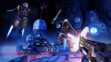 A player guns down some enemies in borderlands: the pre-sequel
