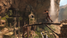 Lara exploring old temples