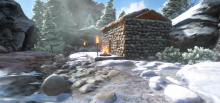 ARK Winter house