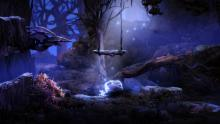 One of Ori and the Blind Forest's mystical environments