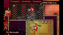 Hotline Miami's signature psychedelic patterns and hyper-violence