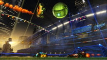 Rocket League is truly beautiful graphically. Everything is crystal clear. The sharp backgrounds really insert players into the environment.
