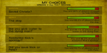 An example of the choices that could be made in The Walking Dead: Season Two