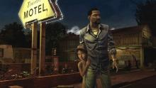 Lee and Clementine form a special bond amidst zombie wreckage