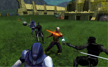 Sometimes KOTOR II is criticized for not having enhanced the graphics more from the first game. However, the appearance of KOTOR II and even the original KOTOR have aged well; the colors are bright, the characters are sharp, and overall, it looks great for its age.