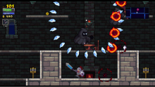 Rogue Legacy is a throwback to retro platformers both in difficulty and appearance.