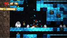 Don't get caught by the Yeti King or any of his minions in the Ice Caves of Spelunky.
