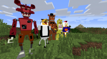 Minecraft players will really make anything. There's a Five Nights at Freddy's mod for minecraft.