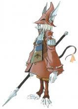 This anthropomorphic rat from Final Fantasy IX is technically female. She's also a dragoon with a spear.