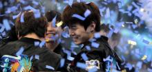They look so happy, confetti and all!