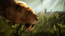 'Shhh.... be vewy vewy quiet... I'm hunting prehistoric deer!'