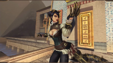 Serqet, the Egyptian goddess of venom, shows off her steampunk-inspired skin, Madame Blade Serqet.