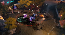 In this Top 5 play, Apollo, Agni (in his Swagni skin), and Fenrir go after the enemy Loki (in his Infiltrator Loki skin) in front of the harpies' Experience Camp.