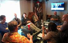 A roundtable discussion among the writers for the game.