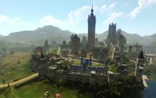 Archeage maintains giant cities in stunning graphics for an MMO.
